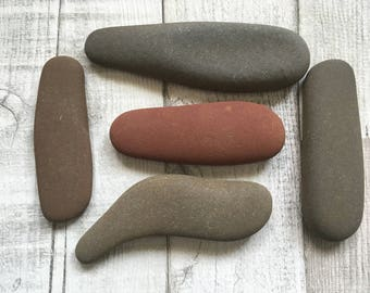 Natural Beach Pebbles Stones -sticks/long pebbles Decorative Beach Decor/ ST-5520