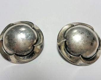 Ermani Bulatti Clip earrings /Vintage European Designer Jewelry/Dutch designer Ermani Bulatti/Vintage jewelry
