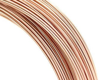 Rose Gold Filled Wire, 14k, 12 ga, 14 ga, 20 ga, ROUND,  Dead Soft or Half Hard, Length Choice,  Wholesale