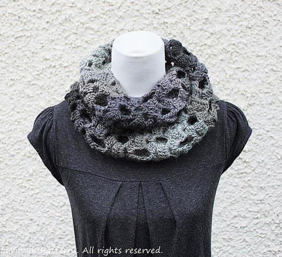 Crochet Pattern Crochet Lace Infinity Scarf Womens Snood