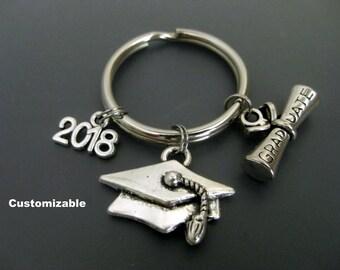 graduation keychain etsy