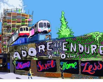 Adore + Endure, Shoreditch, East London Art Print