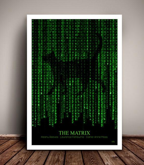 The Matrix //  The Wachowskis // Keanu Reeves // Minimalist  // Unique Art Print