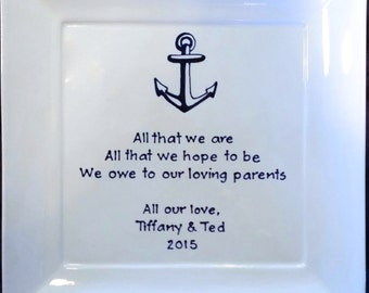 MOTHER of the BRIDE Gift Mother of the groom gift mother in law parents wedding gift personalized wedding gift for parents thank you Anchor