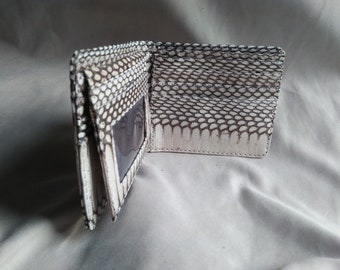 Best Price 100% Handmade Genuine Cobra SNAKE SKIN Leather Men Bifold WALLET Free Shipping