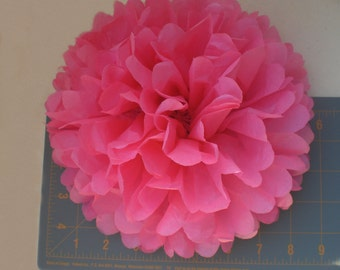"""7 Large Tissue Paper Flowers 9"""" ...Party Decor, Wedding Reception Decor , Baby Shower Decorations, Rose - ANY COLORS"""