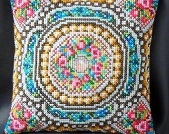 Mosaic inspired by Fabergé Mini Cushion Cross Stitch Kit