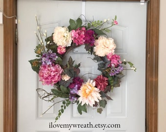 spring wreaths, wreaths for front door, front door wreaths, spring wreaths for front door, colorful wreaths, Mother's day gifts,