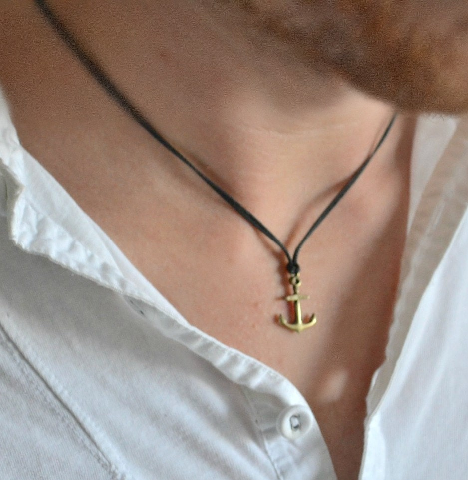 Anchor necklace for men mens anchor necklace with a zoom aloadofball Images