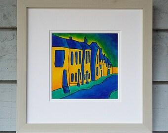 """Original Oil Landscape Painting, Oil Art Landscape Painting 12""""x12"""" Framed Original Oil Art Landscape Painting Canvas Board Art Original Oil"""