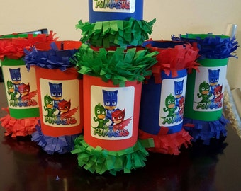Mini Pinata PJ Masks Goody Bags Party Bags Birthday PJ Masks Qty 12