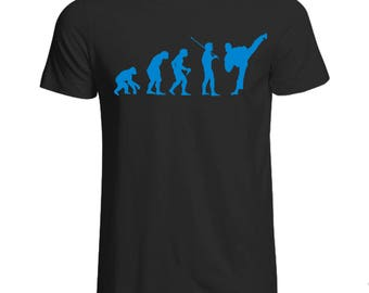 Evolution of Karate T-Shirt Various Sizes and Colours