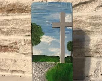 Wooden Block Painting: Nelsonville Cross, OH
