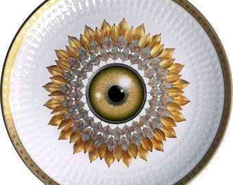 Sunflower - Vintage Porcelain plate - #0517