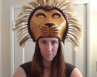 Lion king headdress, Simba or Mufasa, Lion King