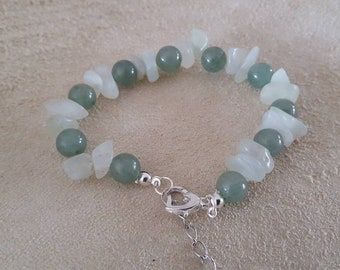 Bracelet with Serpetijn round and split beads, adjustable, inner rest, balance, protection