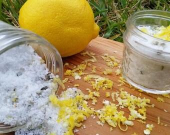 Lemon RoseMary Bath Soak/Foot Soak Salt/All Natural/ Handcrafted
