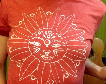 Vintage Style Rusty Red Graphic Tee