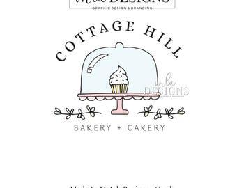 Cupcake Logo - Baking Premade Logo, Premade Bakery Logo, Cupcake Logo, Cake Logo, Rolling Pin Logo, Baking Logo, Premade Custom Logo