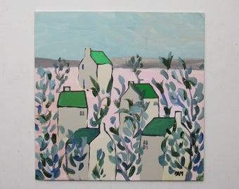 """original art - """"Through The Grapevine"""" - original acrylic painting - home decor"""