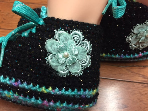 slippers flower 391 9 crocheted shoes shoes flower Womens sneakers sneaker crochet tennis tennis 7 sneakers house slippers shoes Crocheted qTSRtwPfw
