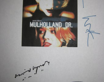 Mulholland Dr. Signed Movie Film Screenplay Script X3 autographs David Lynch Naomi Watts Justin Theroux signature mystery suspense film