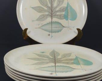 Debonaire Melmac Dinner Plates - Turquoise and Grey - Set of 6 Midcentury Atomic Retro Mod & Melmac dinner plates | Etsy