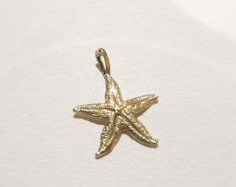 Vintage 10k Gold Star Fish Charm / Pendant
