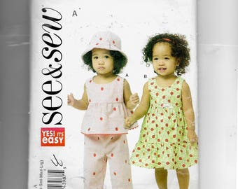 Butterick Infants' Top,Dress, Panties, Pants and Hat Pattern 5629