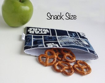 Reusable Snack & Sandwich Bag -- Star Wars Print, Eco-Friendly
