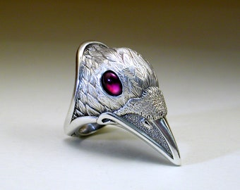 White Spirit Raven Ring