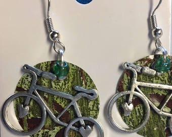 Bicycle can earrings