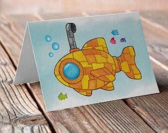 Yellow Submarine Greetings card