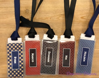 Personalized bookmarks for men or boys, male teacher gifts, mens bookmarks, boys bookmarks, masculine bookmarks