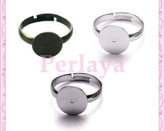 Mixed of 15 dark silver - bronze - silver rings 10mm REF1297 supports