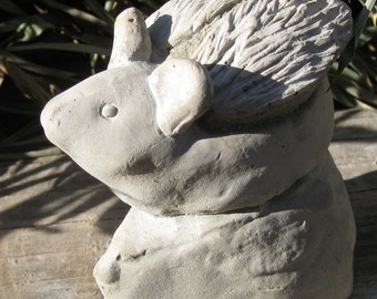 Concrete Angel Mouse Statue or Memorial