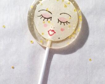 One Vintage Paper Moon Marshmallow Lollipop