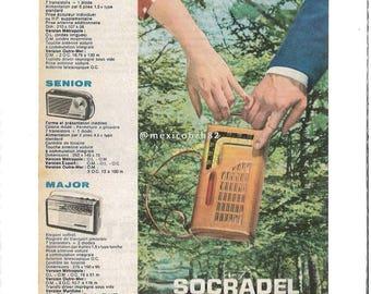 advertising transistor Minor Socradel 50's