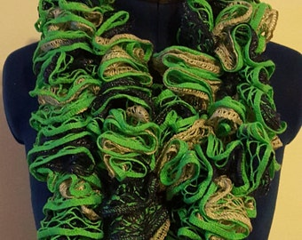 Seattle football ruffle scarf