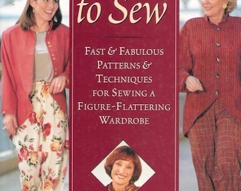 No Time to Sew : Fast and Fabulous Patterns and Techniques for Sewing - Hardcover Book- by Sandra Betzina 1996