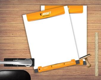 letterhead design .  instant download , Custom Letterhead , Business letterhead . Letterhead Download