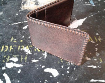 VINTAGE Handmade MEXICAN Leather WALLET