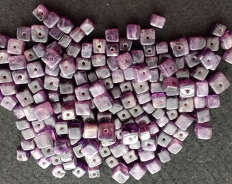 Vintage Amethyst 8-10mm Cubes
