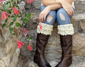 PDF knitting pattern for Eleanor Boot Toppers