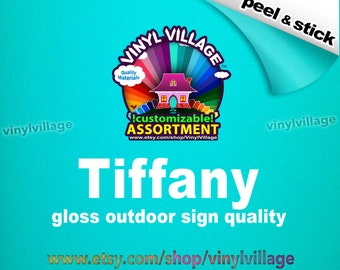 Tiffany Adhesive backed vinyl peel and stick outdoor sign quality great for crafts vinylvillage