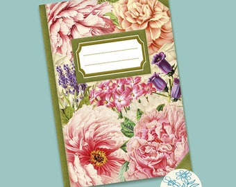 Notebook / Floral Notebook / A6 lined notebook / Pocket Notebook / Flower Notebook / Flower stationery / Wedding Stationery