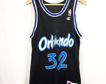 Vintage Orlando Magic Shaquille O'Neal Shaq NBA Throwback Jersey Mens Size 40/Medium 90s