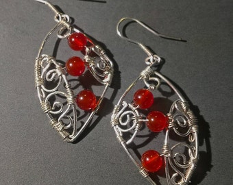 """Red Carneol Earrings - """"Passion"""""""