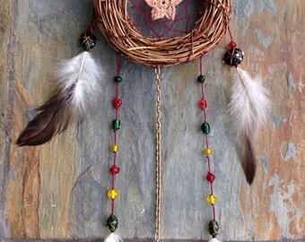"5"" Mini Wreath Holiday Dream Catcher - housewarming gift"