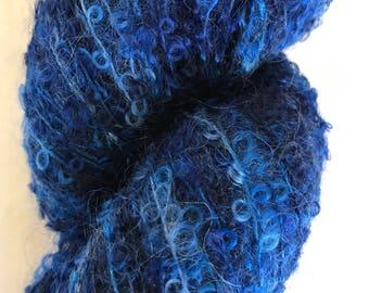 """Kid Mohair Boucle Hand-painted Yarn """"Teddy"""""""
